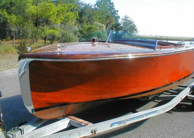 Barrel Back Mahogany boat by Don Baker.