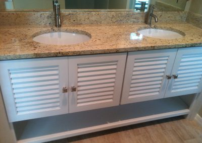 Bathroom Vanity by Borders Woodworks..